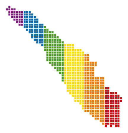 A dotted LGBT Sumatra Island Map for lesbians, gays, bisexuals, and transgenders.