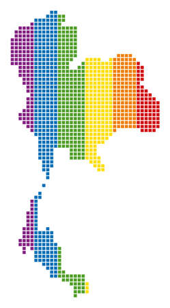 A dotted LGBT Thailand Map for lesbians, gays, bisexuals, and transgenders. Иллюстрация