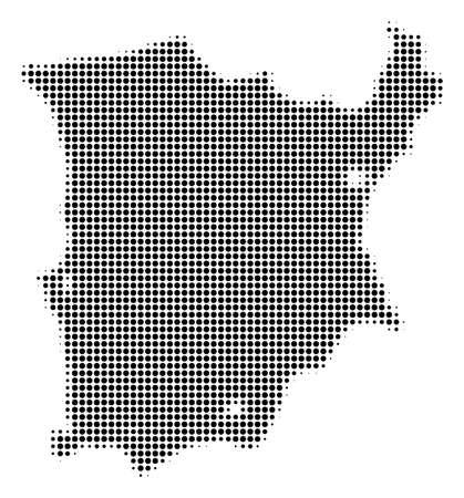 Black and white dotted Koh Samui map halftone vector illustration Illustration