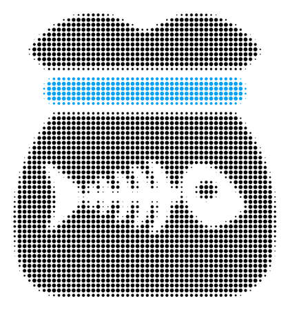 Toxic Rubbish halftone vector pictograph. Illustration style is dotted iconic Toxic Rubbish symbol on a white background. Halftone matrix is round points.