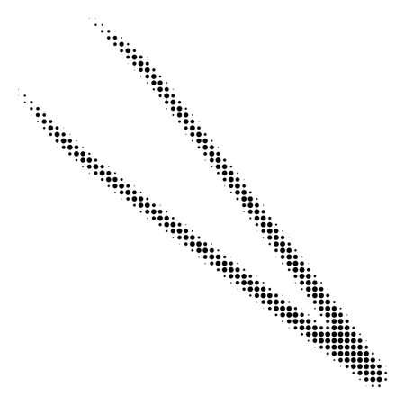pinces demi-teinte vecteur de trame de trame de fractale est le style emblématique poudre de trame sont sur un fond blanc. illustration de symbole de demi-teintes .