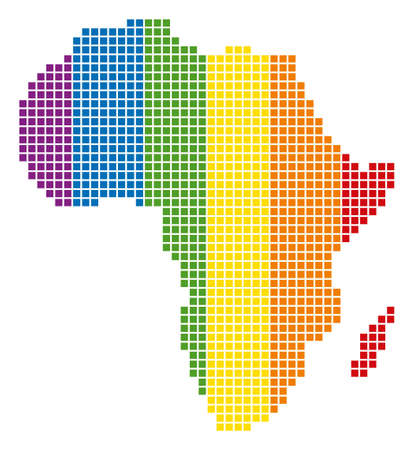A Dotted LGBT Africa Map For Lesbians Gays Bisexuals And