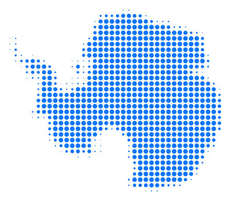 Antarctica Map halftone vector icon. Illustration style is dotted iconic Antarctica Map icon symbol on a white background. Halftone matrix is round dots. 写真素材 - 99432552