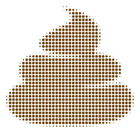 Dotted poop icon symbol Vector Illustration