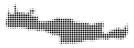 Dotted Crete Island Map icon symbol