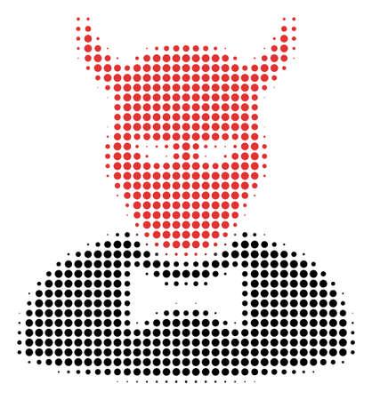 Dotted Devil icon symbol Banco de Imagens - 99430080
