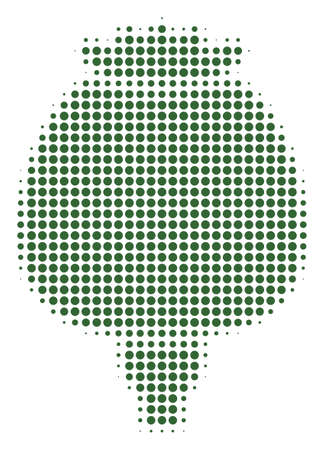 Opium Poppy halftone vector icon. Illustration style is dotted iconic Opium Poppy icon symbol on a white background. Halftone matrix is circle spots. Illustration