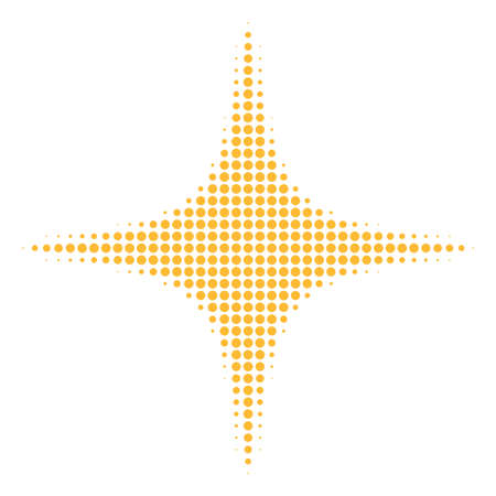 Space star halftone vector icon. Illustration style is dotted iconic space star icon symbol on a white background. Halftone matrix is circle points.