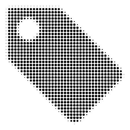 Tag halftone vector icon. Illustration style is dotted iconic Tag icon symbol on a white background. Halftone pattern is round spots.