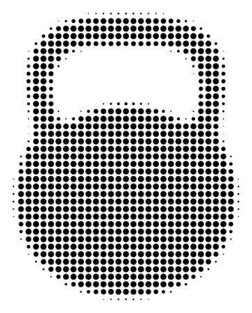 Weight halftone vector icon. Illustration style is dotted iconic Weight icon symbol on a white background. Halftone matrix is round dots.
