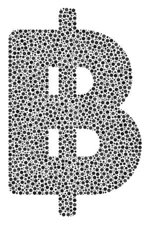 Dotted Baht icon Illustration