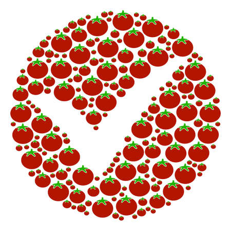 Apply mosaic of tomatoes in various sizes. Raster tomato objects are organized into apply composition. Vegetable raster design concept.