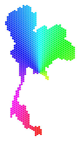Spectrum hexagon Thailand Map.