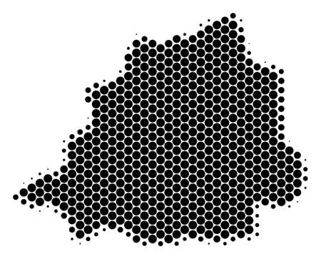 Halftone dotted Vatican Map. Vector geographical map on a white background. Vector pattern of Vatican Map done of sphere spots.
