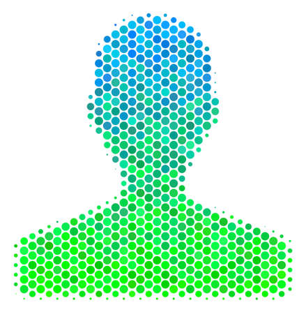 Halftone round spot Customer pictogram..