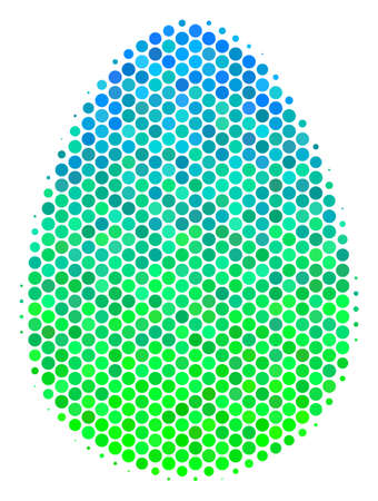Halftone round spot Egg pictogram.