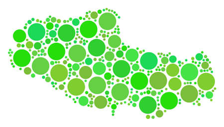Tibet Chinese Territory Map composition of random filled circles in various sizes and fresh green shades. Vector round elements are organized into tibet chinese territory map illustration. 写真素材 - 100142327