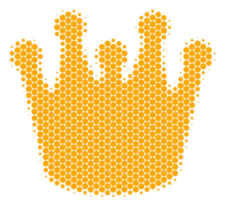 Halftone dot Royal icon. Pictogram on a white background. Vector mosaic of royal icon constructed of sphere blots.