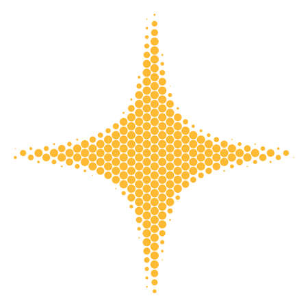 Halftone round spot Space Star icon. Pictogram on a white background. Vector mosaic of space star icon composed of circle elements.