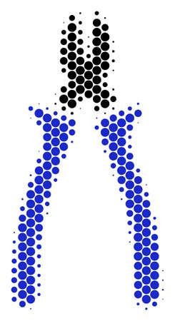 Halftone dotted nipper icon. Archivio Fotografico - 100253665