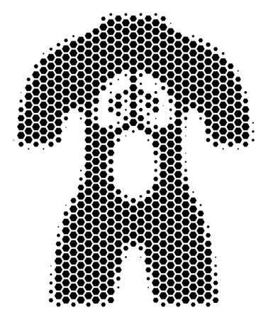 Halftone hexagon Human Anatomy icon. Pictogram on a white background. Vector pattern of human anatomy icon done of hexagonal items. 向量圖像