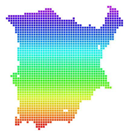 Bright Rainbow Pixel Koh Samui Map.