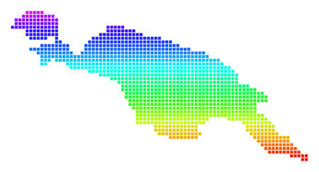 Colored Spectral Dot New Guinea Division Map.
