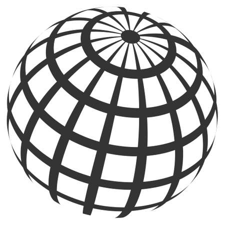 Abstract Sphere Grid raster illustration. Modern 3d effect design for business. Stock Photo