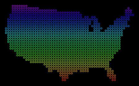 Bright Spectral USA Map. Çizim