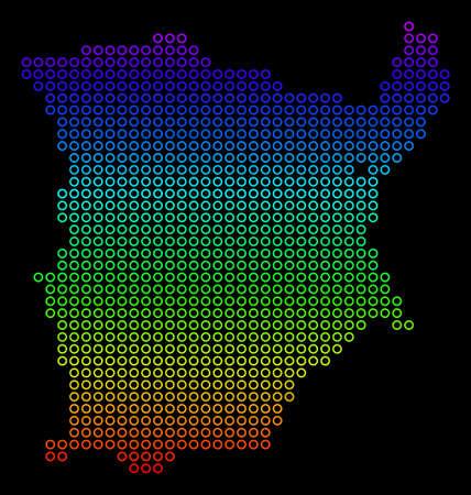 Colored Rainbow Koh Samui Map.