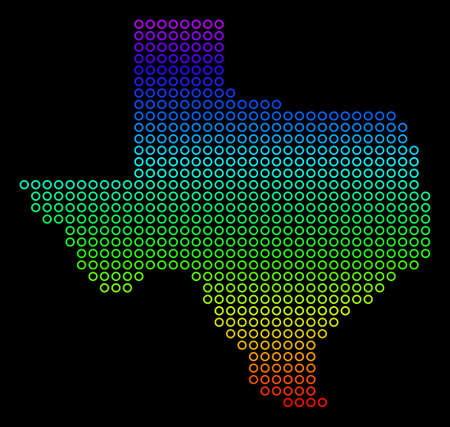 Bright Spectral Texas Map.