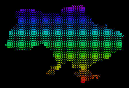 Bright Spectral Ukraine Map With Crimea. Banco de Imagens - 100383165