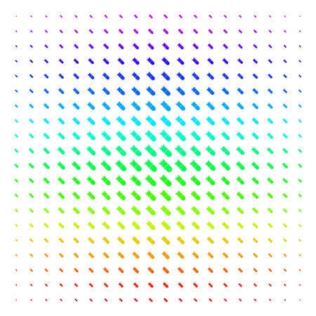 Aviation Bomb icon spectrum halftone pattern. Vector shapes arranged into halftone grid with vertical spectral gradient. Designed for backgrounds, covers and abstraction compositions.