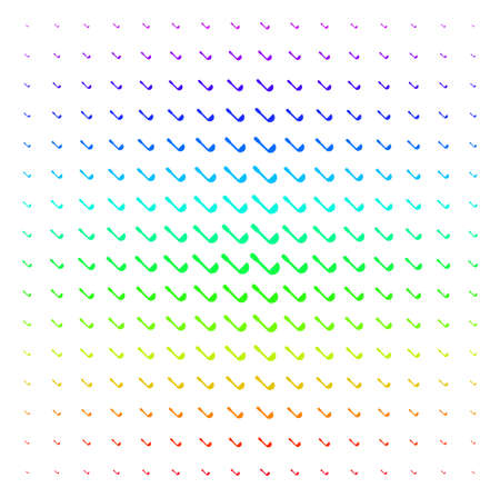 Scoop icon spectral halftone pattern. Vector scoop items arranged into halftone grid with vertical spectral gradient. Designed for backgrounds, covers and abstract effects. Illustration