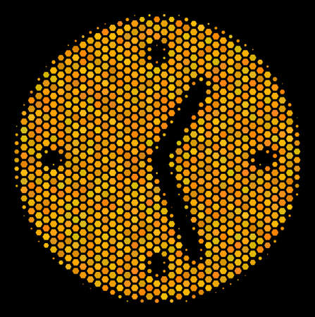 Halftone hexagonal Clock icon