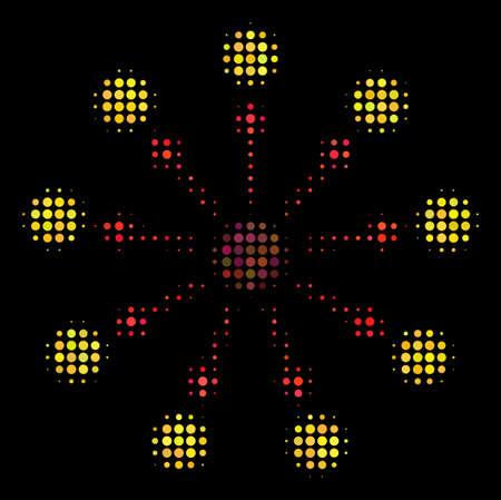 Expanse halftone icon pixel style illustration. Illustration