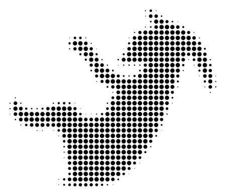 Dotted black alien embryo icon. Vector halftone concept of alien embryo symbol designed with round elements.