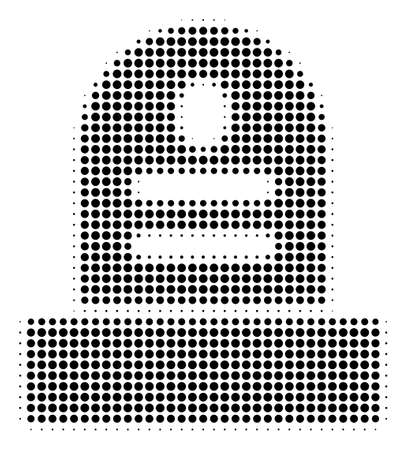 Dotted black grave icon. Vector halftone concept of grave pictogram designed with circle items.