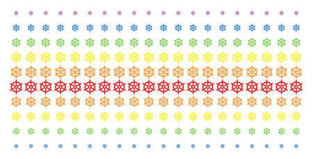 Boat Steering Wheel  pattern design Иллюстрация