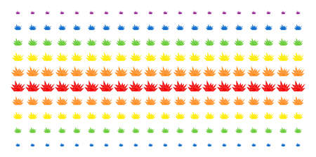 Explosion Boom icon rainbow colored halftone pattern. Vector pictograms organized into halftone array with vertical spectral gradient. Designed for backgrounds, covers, Illustration