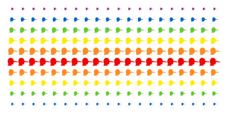 Lier icon rainbow colored halftone pattern. Vector pictograms organized into halftone array with vertical spectral gradient. Constructed for backgrounds, covers, templates and abstract compositions. 일러스트
