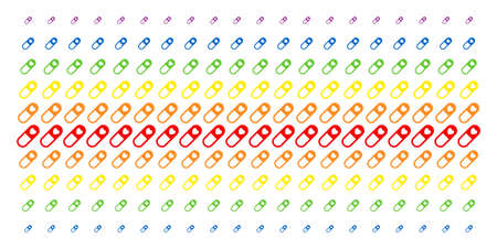 Love Granule icon spectral halftone pattern. Vector objects organized into halftone matrix with vertical spectrum gradient. Constructed for backgrounds, covers, templates and abstraction concepts. Stock Illustratie