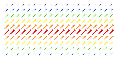 Screw icon spectrum halftone pattern. Vector pictograms arranged into halftone array with vertical spectral gradient. Designed for backgrounds, covers, templates and abstract compositions.