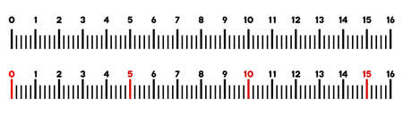 Graduated ruler vector illustration on a white background. Designed for engineering applications.