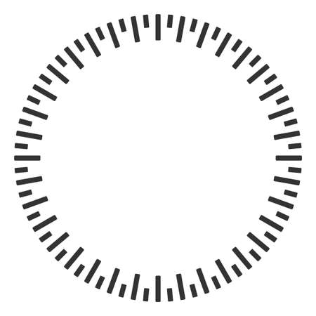 Circular ruler vector illustration on a white background. Designed for engineering applications.