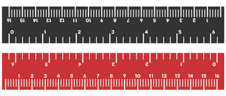 Inch and centimeter ruler vector illustration on a white background. Designed for engineering applications. Çizim