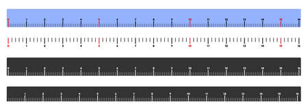 Meter ruler vector illustration on a white background. Designed for engineering applications.