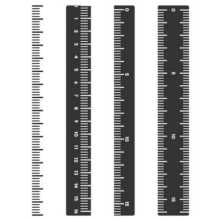 Vertical meter ruler vector illustration on a white background. Designed for engineering applications.
