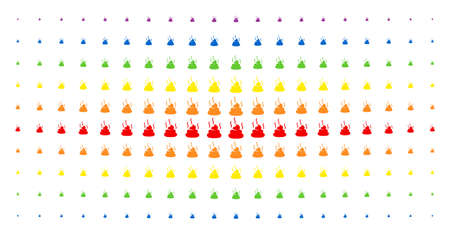 Shit smell icon spectrum halftone pattern. Vector shit smell symbols are organized into halftone grid with vertical rainbow colors gradient. Constructed for backgrounds, covers, Illustration