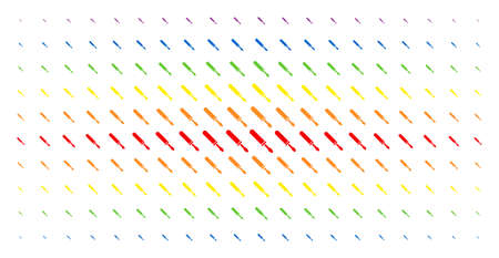 Screwdriver icon spectrum halftone pattern. Vector screwdriver pictograms are organized into halftone array with vertical spectral gradient. Designed for backgrounds, covers,